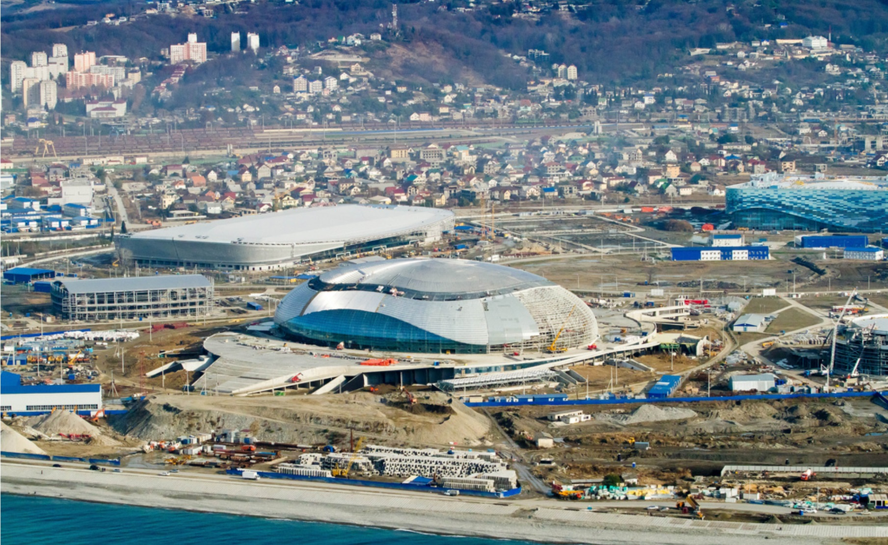 aerial of the Sochi Olympics