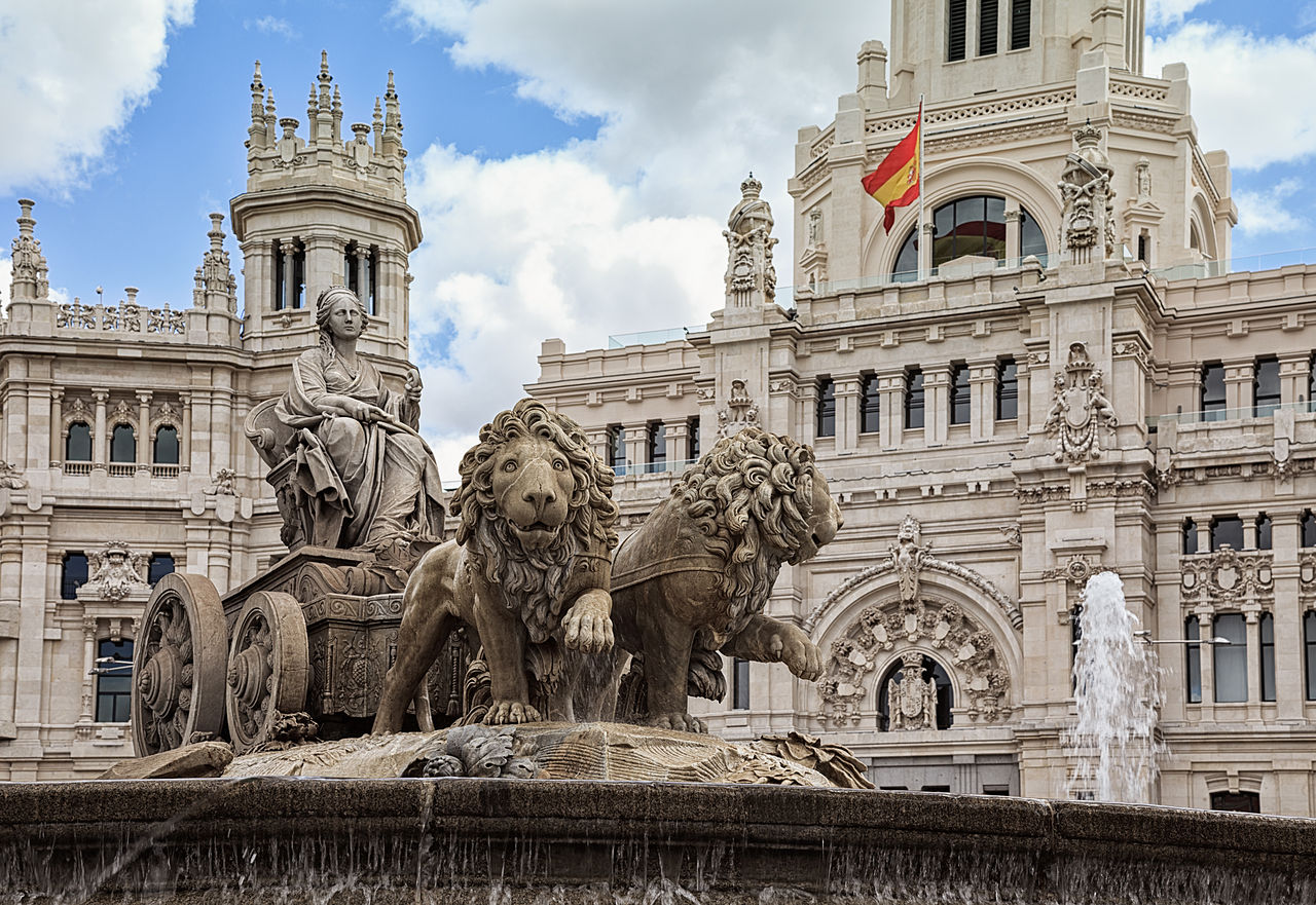 Plaza de Cibeles is among the best places in Madrid for taking pictures...